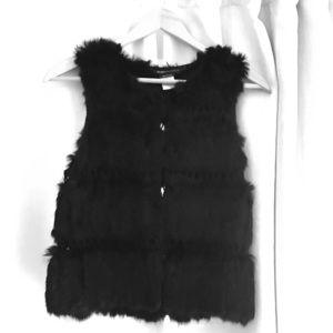 BCBG MaxAzria Faux fur vest